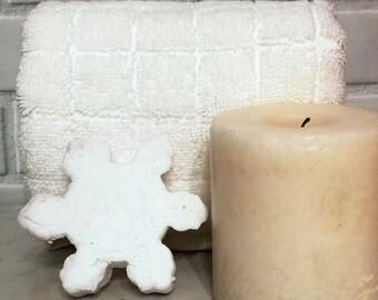 Snowflake Solid Bubble Bath, Snowflake Bubble Bar, Stocking Stuffer, Christmas Gift, 2oz