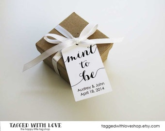 Mint to be Wedding Favor Tags - Wedding Favor Tags - Mint Wedding Favors - Candy Wedding Favors - Party Favors - Wedding Favor Ideas - SMALL