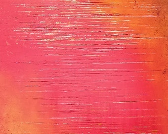 Red River • Original Modern Acrylic Abstract Palette Knife Painting 20x30 (made-to-order)