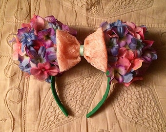 Spring Time Flower Ears headband