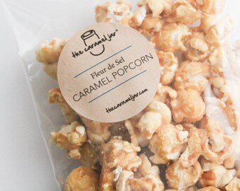Fleur de Sel Caramel Popcorn - The Perfect Sweet and Savory Snack (4) approx 3.5 oz Packs