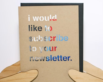 Subscribe to Newsletter Card
