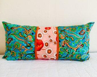 Orange Poppy Bolster Pillow