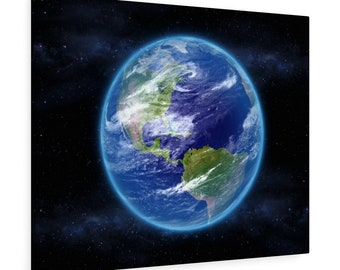 Earth In Space - Canvas Gallery Wraps