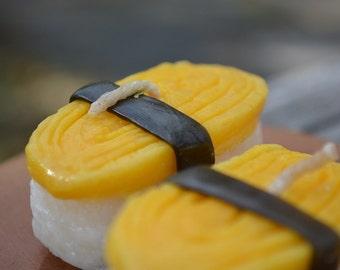 Tamago egg sushi candle (Pan-fried rolled egg)