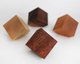 Geometric Cube Wall Hooks, wood wall hangers, coat rack, modern home decor, unique clothes storage, decorative wall hooks, home and fixtures