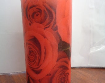 red rose candle