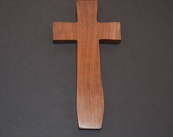 Unique Wood Cross; Christian; Cross Wall Decor; Wood Gifts; Baptism Gift; Walnut; Wall Cross; Free Ground Shipping USA; cc20-1062017