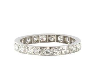 Alliance ancienne platine diamants Platine Vintage