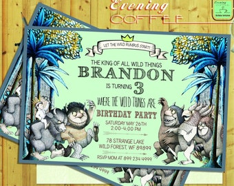 Where The Wild Things Are Invitation.Where The Wild Things Are Birthday.Where The Wild Things Are Printable.Where The Wild Things Are.1