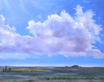 Clouds in Landscape, Giclee Print in Varying Sizes, Skyscape