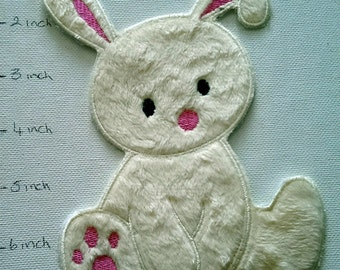 Fluffy Bunny (fer sur) Applique, correctif, fer sur fer sur