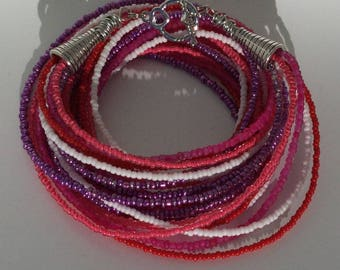 Valentines Beaded Necklace