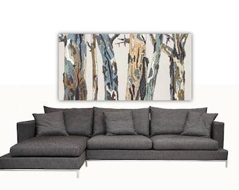 Oversized Extra LARGE Wall Art Print white tree art canvas Landscape masculine decor office living room dining room bedroom artwork bark