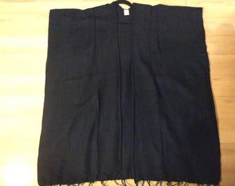 Black Yak wool Kimono
