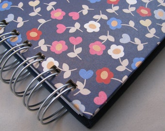 Bill Organizer - Paper Tracker - Paper Organizer - Mail Organizer - Organize Paper - Paper Holder -  Pockets - To Do List - Navy Floral