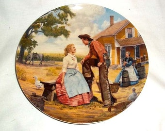 Knowles Mort Kunstler Collectors Plate - Oh What A Beautiful Mornin' - First Issue in the Oklahoma Series