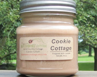 COOKIE COTTAGE SOY Candle, Vanilla Candles, Spice Candles, Cinnamon Candles, Cookie Candles, Fall Candles, Autumn Candles, Clove Candles
