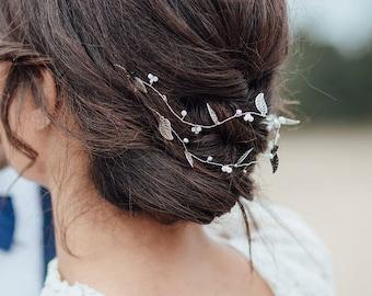 hairvine bridal headband pearls