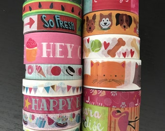 """CLEARANCE! 18""""/24"""" SAMPLES of craft smith assorted washi tape (M155)"""