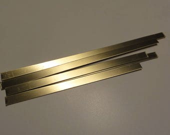"Brass .040"" / 18 ga -- .375"" wide strip variety pack 6"" long -8 "" long"