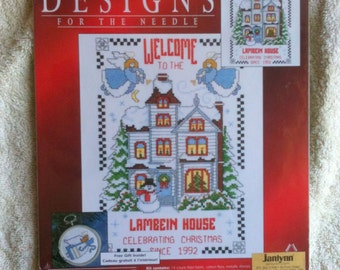 Janlynn Christmas Traditions  Counted Cross Stitch Kit Celebrating Christmas New Deserdog Destash  b38