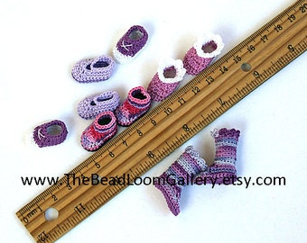 Made to Order - Pukifee Size Shoes - Pick Your Color - 1 Pair of Crochet Shoes