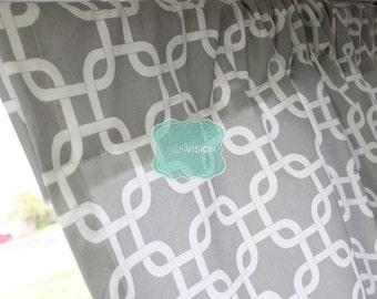 PAIR of Curtain Drape Panels - 2 PC - Premier Print - GOTCHA - Storm Grey - Home Decor Window Treatment Kitchen Valance Wedding Even