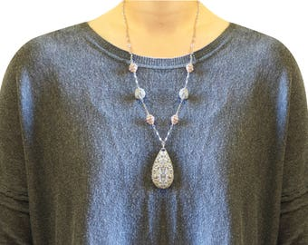 Authentic Jewelry Set Necklace and Earrings