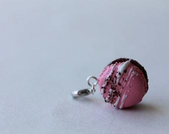 Napoleon Ice Cream Macaroon Charm/ Sweet Treat Bracelet Charm/ Fake Dessert Food/ Miniature Polymer Clay