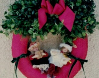 Rustic Red Christmas Wreath
