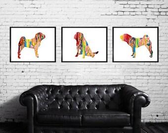 Buy 2 Get 1 FREE!!! Special offer, Shar Pei Watercolor Print, Children's Wall, Art Home Decor, dog watercolor, Shar Pei art, dog art