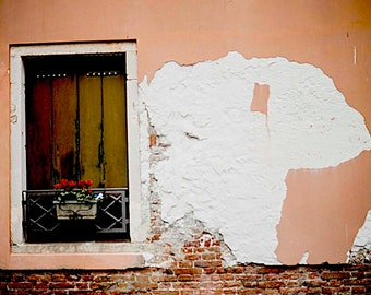 Venice, Italy Old World, Terracotta Colored Houses, Decay, Brick, Window Box