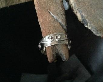 S-geformte Scroll-Band-Silberring