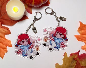 Wendy's Girl Inspired Double-Sided Keychain