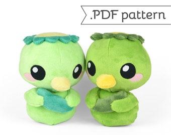 Kappa (Japanese Turtle Monster) Plush .pdf Sewing Pattern