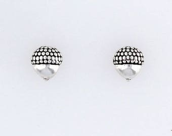 Sterling Silver Acorn Charm, Post, Dangle Earrings