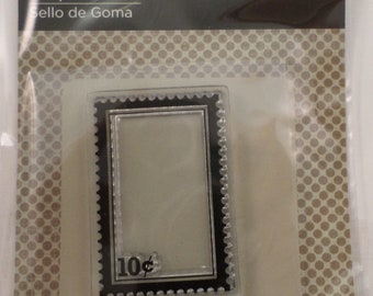 Imaginisce 10 Cent Postage Cling Clear Rubber Stamp