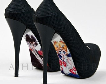 Custom hand painted Sailor Moon Shoes