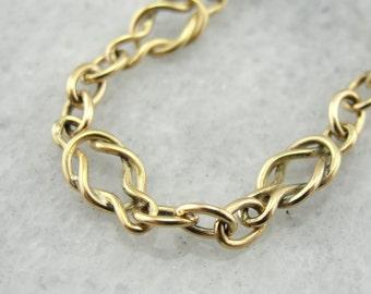 Simplistic 14K Gold Love Knot Bracelet F7W1EV-N