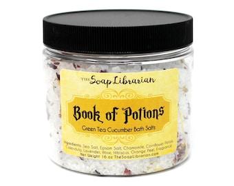 Book of Potions Bath Salts - Book Lovers Gift - Natural Bath Soak