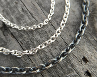 Sterling Silver Chain Custom Made In Any Length Wild Prairie Silver Jewelry