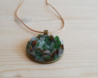 Beach glass necklace
