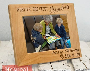 Gifts for Grandma - Personalized Grandma Picture Frame From Kids or Grandkids - Christmas Gift For Grandma - Gifts for Grandma