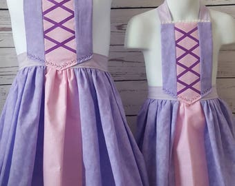 Rapunzel inspired dress up apron