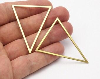 3 Raw Brass Triangles (53x53x40mm) Bs-1307