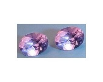 one 8x6 oval amethyst gem stone gemstone 8mm x 6mm