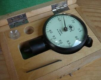 Industrial Gauge in Wood Box
