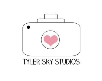 Photography Logo Design - for photographers designers small business owners - camera logo with heart