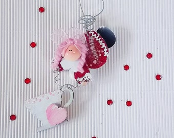 Valentine's Day holiday wall decor Personalize Heart Angel Tea Cup Ornament party favor